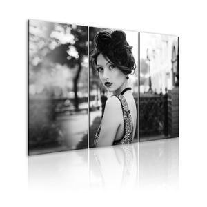 Obraz - Elegancka kobieta w stylu retro - 2866329505