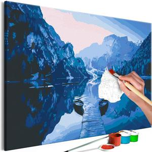 Obraz do samodzielnego malowania - Łodzie na jeziorze