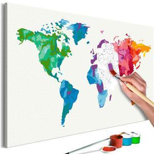 Obraz do samodzielnego malowania - Kolory Świata