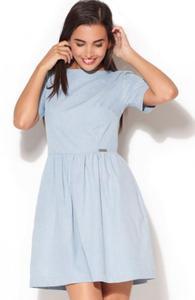 Katrus K164 sukienka błękitna - 2832255989
