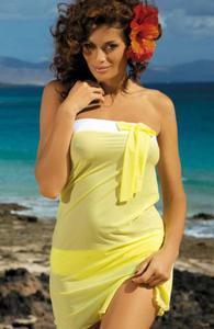 Marko Mia M-241 tunika plażowa żółta - 2832258719