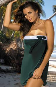 Marko Mia M-241 tunika plażowa butelkowa zieleń - 2832258730