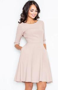 Figl M327 sukienka pudrowy róż - 2832262264