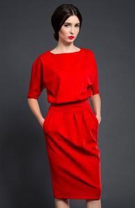 Kasia Miciak design mono sukienka czerwona - 2832262516