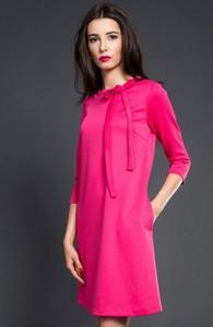 Kasia Miciak design trapezowa sukienka fuksja - 2832262517