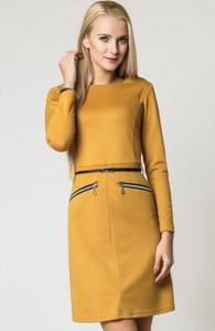 Vera Fashion Angela sukienka musztardowa - 2832262658