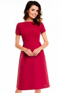 Awama A130 sukienka bordowa - 2832263537