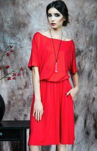 Kasia Miciak design czerwona sukienka - 2832263755