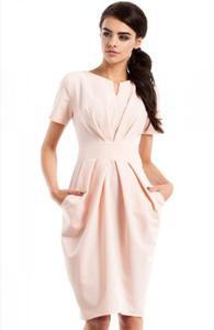 Moe MOE234 sukienka pudrowy róż - 2835171278