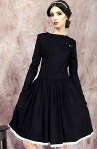 Kasia Miciak design rozkloszowana sukienka czarna - 2842795091