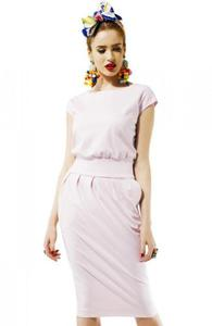 Kasia Miciak design mono sukienka pudrowa - 2848473856