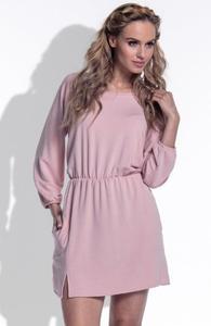 *FIMFI I174 sukienka pudrowy róż - 2863682339