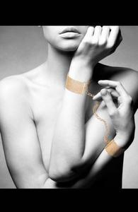 Bijoux Indiscrets Désir Métallique kajdanki złote - 2858591993
