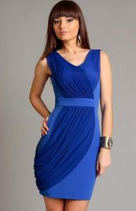 *Vera Fashion Vivienne sukienka niebieska - 2863682554