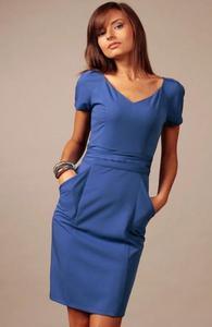 Vera Fashion Michelle sukienka chabrowa - 2832253984