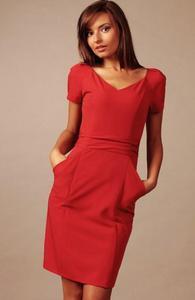 Vera Fashion Michelle sukienka czerwona - 2832253986