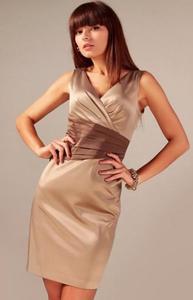 Vera Fashion Oriana sukienka cappucino - 2832254003