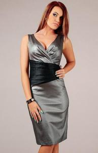 Vera Fashion Oriana sukienka srebrna - 2832254004