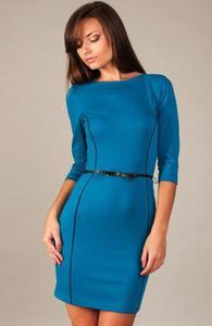 Vera Fashion Pola sukienka chabrowa - 2832254006