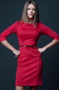 Vera Fashion Pola sukienka czerwona - 2832254007