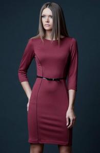 Vera Fashion Pola sukienka bordowa - 2832254009