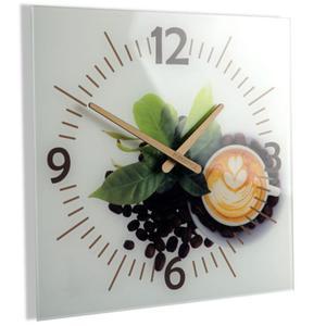Zegar kwadratowy szklany COFFEE 3 - 2861273694