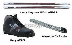 Narty biegowe Kpl. HIGHLANDER(54)+axtel+Auto M