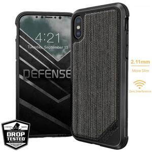 X-DORIA DEFENSE LUX - Etui Aluminiowe iPhone X (stripes fabric) - 2876148087