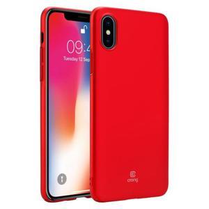 Crong Smooth Skin - Etui iPhone Xs / X (czerwony) - 2889016653
