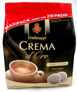 Kawa Senseo Dallmayr Crema d'Oro mild&fein 28 pads - 2823034782