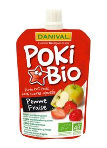 Poki jabłko i truskawka BIO 90g Danival - 2878641653