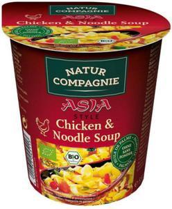 Danie w kubku Zupa z kurczakiem i makaronem w stylu azjatyckim BIO 50g Natur Compagnie - 2855966597