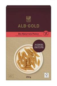 Makaron Penne z ryżu brąz. bezglutenowy BIO 250g Alb-Gold - 2825280482