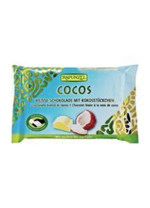 Czekolada biała z wiórkami kokosowymi BIO 100g Rapunzel - 2825280904