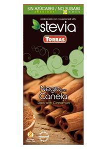 Czekolada gorzka ze stewią i cynamonem 125 Torras - 2825280953