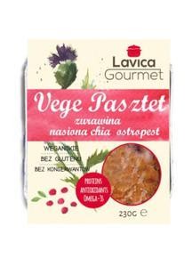 Vege pasztet z żurawiną, chia i ostropestem 230g Lavica Gourmet - 2875001251