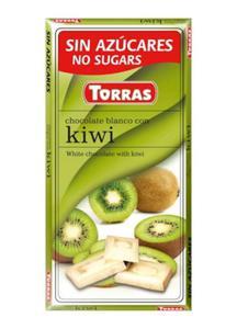 Czekolada biała z kiwi bez cukru 75g Torras - 2825281198