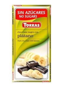 Czekolada gorzka z bananami bez cukru 75g Torras - 2825281199