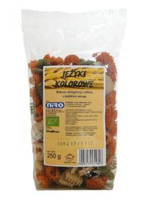 Makaron orkiszowy Jeżyki trójkolorowe (szpinak i papryka) BIO 250g Niro - 2825281226