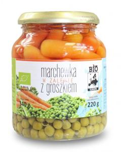 Marchewka w zalewie z groszkiem w słoiku BIO 340g (220g) Bio Europa - 2825281387