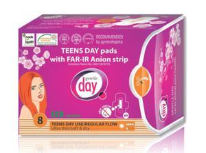 Podpaski higieniczne MIni na dzień z paskiem anionowym TENNS 12szt Gentle Day - 2825281485
