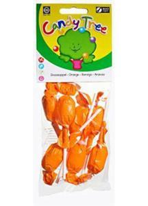 Lizaki okrągłe pomarańczowe BIO 7 szt Candy Tree - 2825279805