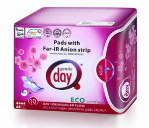 Podpaski higieniczne na dzień z paskiem anionowym 10szt Gentle Day - 2825281542