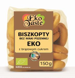 Biszkopty bez mąki pszennej BIO 150g Eko Taste - 2879089477