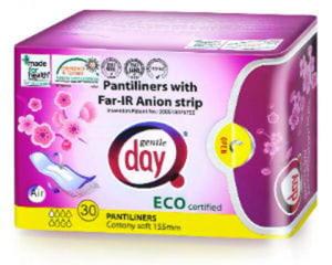 Wkładki higieniczne z paskiem anionowym 30szt Gentle Day - 2836495615