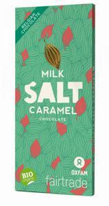 Czekolada mleczna ze słonym karmelem Fair Trade BIO 100g Oxfam - 2843235518