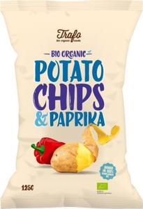 Chipsy ziemniaczane o smaku paprykowym BIO 125g Trafo - 2866154261