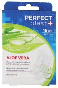 Plastry z opatrunkiem z wyciągiem z aloesu 16 szt Perfect Plast - 2852713327