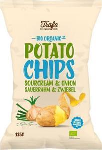 Chipsy ziemniaczane o smaku śmietankowo-cebulowym BIO 125g Trafo - 2854933255