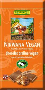 Czekolada Couverture z nadzieniem pralinowym Nirwana Vegan BIO 100g Rapunzel - 2865451525